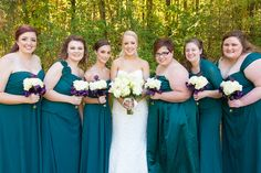 Bridal party from the left up to the bride.