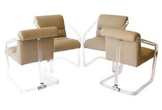 Lucite  Chairs by Lion in Frost, S/4 on OneKingsLane.com