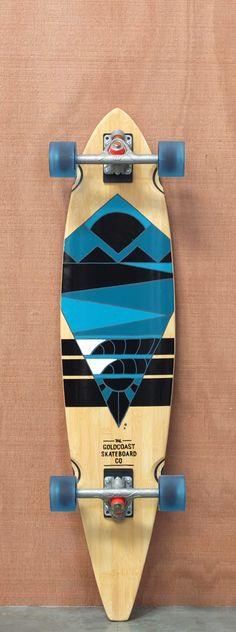"GoldCoast 40"" Neptune Bamboo Longboard Complete"