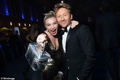 On cloud nine: Filmmaker Greta, 36, threw some shapes on the dancefloor, while leading act...