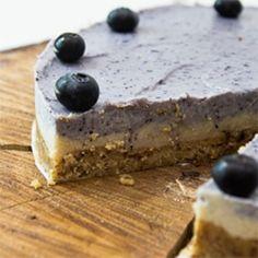 Raw Vegan Coconut Blueberry Pie