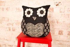 Adele Heart Owl Cushion £16.25
