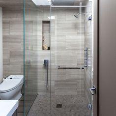 Telegraph Hill SF - contemporary - bathroom - san francisco - by Kat Alves Photography Contemporary Tile, Contemporary Bathrooms, Küchen Design, Bath Design, Design Ideas, Diy Wood Floors, Shower Floor Tile, Shower Tile Designs, Bathroom Design Inspiration