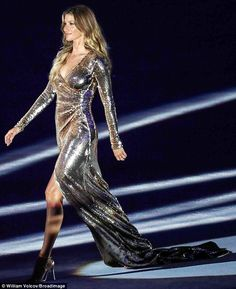 'Imagine if I walked on the runway crying!': Gisele Bundchen has revealed she nearly broke down in tears before her appearance in the Olympic Games opening ceremony on Friday
