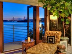 Curl up with a book and take in the cool bay breeze and the Golden Gate Bridge