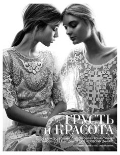 Josephine Skriver & Patricia van der Vliet by Benny Horne for Vogue Russia June 2012