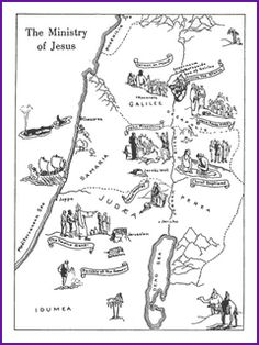 Life of Jesus map