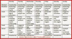 Insanity Max 30 - Week 2 Meal Plan. Following my hubby's journey through the Insanity Max program as I sit patiently waiting, 27 weeks pregnant, to join him for his second round next year. For meal progress pics, meal plans and recipes head to www.melindabesinaiz.blogspot.com