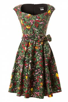 Retrolicious - 50s Birdie Birdie Spring Swing Dress
