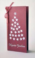Joulukortti, tähdistä tehty kuusi