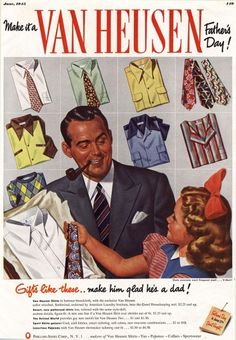 1940s USA Van Heusen Magazine Advert