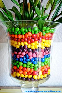 Skittles Vase Craft tutorial #VIPFruitFlavors #CollectiveBias #shop