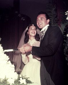 Pier Angeli and Vic Damone on their wedding day
