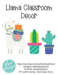 Llama and Cacti Classroom Decor Editable – Cactus Classroom Door Signs, Classroom Setup, Classroom Design, Future Classroom, Classroom Organization, Spanish Classroom Decor, Calm Classroom, Classroom Supplies, Classroom Rules