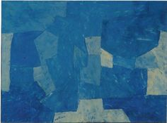 Serge Poliakoff, Bleu, 1958, Galerie Le Minotaure