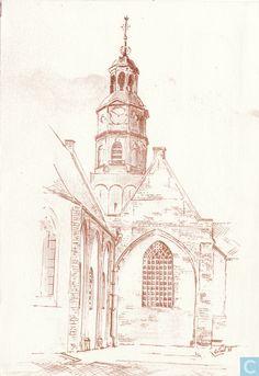 Ansichtkaart - Buren (GLD) - (St. Lambertuskerk)