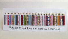 Riesige Geburtstagskarte, 40. Geburtstag, Kerzen von Berlin Art and Design auf DaWanda.com  Papierkerzen zum runden Geburtstag                                                                                                                                                                                 Mehr