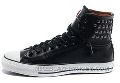 9965705ec18f9 All Star CONVERSE Black Leather Rivets Zipper X High Ps Mens Sneakers Cheap  To Buy T8xz5