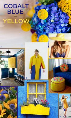 cobalt blue and yellow