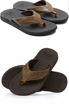988b7be5fcc1 Sandals and Flip Flops 11504  New With Tags! Reef Men S Phantoms Brown Tan Leather  Sandals Flip Flops Size 10 -  BUY IT NOW ONLY   30 on eBay!