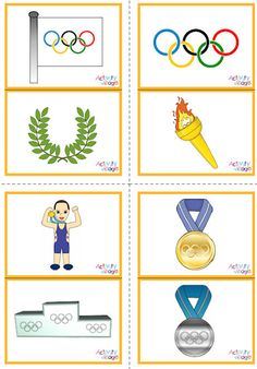 These Olympic picture flash cards print 2 to a page and have 12 cards in total, all with a colourful Olympic themed image. Olympic Games For Kids, Olympic Idea, Olympic Games Sports, Card Games For Kids, Winter Sports Games, Olympic Crafts, Vocabulary Flash Cards, Summer Olympics, Tokyo Olympics