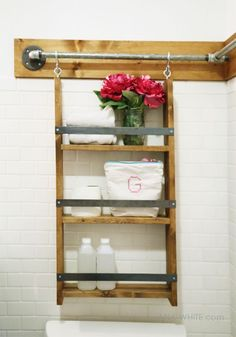 DIY Gabriel Wall System Hanging Organizer from Anna White Wall Organization, Bathroom Organisation, Bathroom Storage, Furniture Plans, Diy Furniture, Office Furniture, Hanging Organizer, Ana White, Decoration