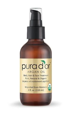 """Have curly hair? Put on a touch of PURA D'OR Moroccan argan oil to keep those locks smooth, <a href=""""https://www.amazon.com/dp/B004Z209HS/?tag=buzz0f-20"""