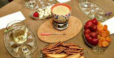White chocolate fondue Dessert Fondue www.thetabletopcook.com