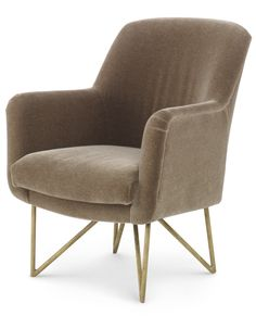 KELLY WEARSTLER | BAILEY CHAIR. Classic upholstered occasional chair