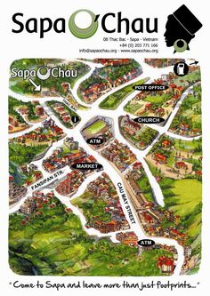 Map Sapa Town #vietnam 沙坝越南萨帕沙巴
