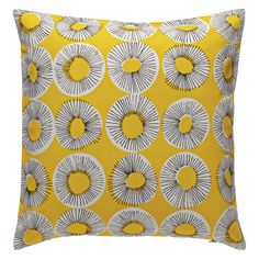 EVELYN Yellow patterned cushion 45 x 45cm | Buy now at Habitat UK
