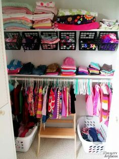 Hack. Use milk crates for closet storage