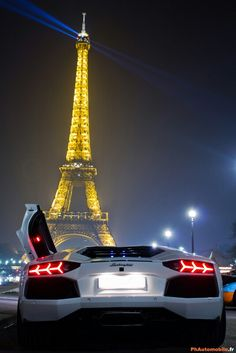 Lamborghini niht view at eiffel tower P.S.. Video about my 800 a day method: Energy-Millionaires.com/PaidPerLead