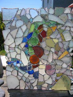 Beach glass window....great idea!
