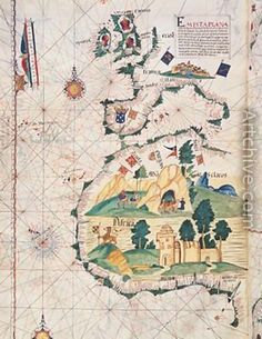 Map of Great Britain Europe and North West Africa by Luis Lazaro