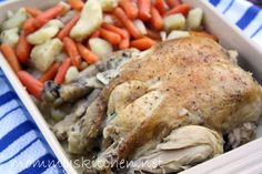 Pot Roast Chicken & Vegetables. (crock pot)
