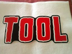 "Tool 10""x4 1/2"" STICKER Decal new old stock"