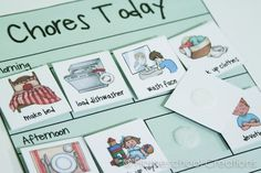 Preschool chore charts with pictures-1