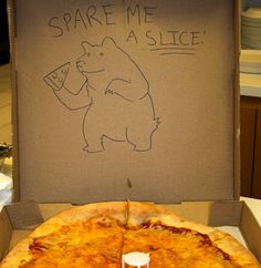 'Special requests' pizza box drawings