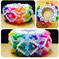 Rainbow Stars Cuff #kandi