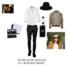 """Prom him"" by kaitlyn-ogg on Polyvore featuring Noose & Monkey, Banana Republic, Maison Michel, Casetify, Daniel Wellington, Gucci, men's fashion and menswear"