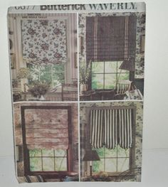 Butterick Pattern 6677 Waverly Easy To Do Shades 4 Styles 2001 Window Treatments #Butterick