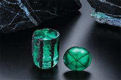 Trapiche emerald formations from Columbia