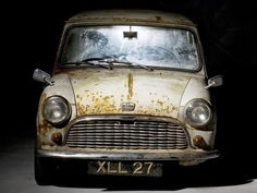 This Austin Mini De Luxe comes up for auction later this month. The vehicle is believed to be the oldest surviving unrestored Mini and the eighth of its type to roll off the production line at Longbridge in Birmingham in May Classic Mini, Classic Cars, Fiat 500, Jaguar, Austin Mini, Mini Morris, Saloon, Car Barn, Automobile