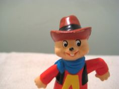 Vintage Alvin and the Chipmunks, Alvin, Cowboy, Wild West, Figure, for sale on Etsy.