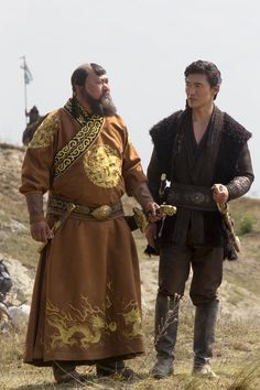 Marco Polo - Kublai Khan and Kaidu Armor Clothing, Medieval Clothing, Historical Clothing, Kublai Khan, Handsome Asian Men, Polo Outfit, Tv Show Outfits, Afghan Girl, Tribal People