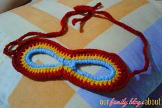 Our Family Blogs About....: Crochet Iron Man Mask
