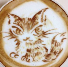 Cat Latte Art-Somebody gotta make me one of these!