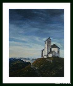 Salvenkirche auf der Höhen Salve, Hopfgarten Im Brixental, Kirchen, Box Art, Painting, Painting Art, Paintings, Painted Canvas, Drawings