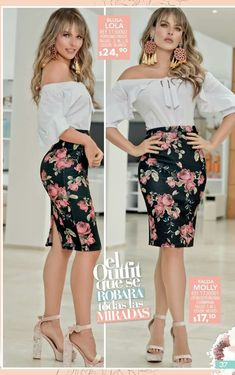 Style: Dressing Up & Down Floral Skirts – Best Fashion Advice of All Time Classy Outfits, Trendy Outfits, Cool Outfits, Fashion Outfits, Womens Fashion, Printed Skirt Outfit, Skirt Outfits, Dress And Heels, Dress Up